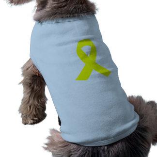 Ayuda para las fuerzas militares - cinta amarilla playera sin mangas para perro