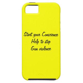 Ayuda para parar violencia armada iPhone 5 Case-Mate cárcasa