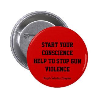 Ayuda para parar violencia armada pin
