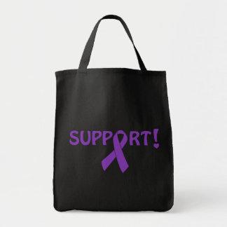 ¡Ayuda púrpura de la cinta! Bolsa Tela Para La Compra