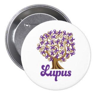 Ayuda púrpura del lupus del árbol de cinta pin redondo de 3 pulgadas