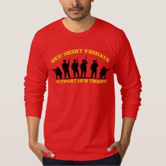 Ayuda roja de viernes nuestra camisa de manga larg