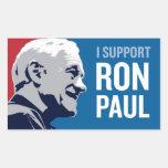 Ayuda Ron Paul Pegatina Rectangular