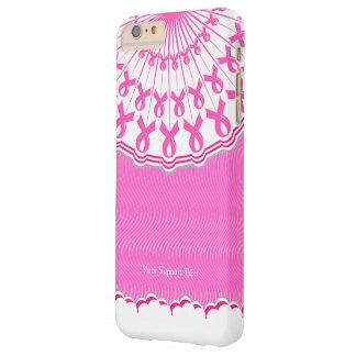 Ayuda rosada del cáncer de pecho de la cinta funda de iPhone 6 plus barely there