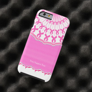 Ayuda rosada del cáncer de pecho de la cinta funda de iPhone 6 tough