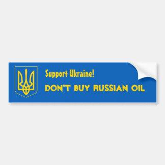 ¡Ayuda Ucrania! No compre el aceite ruso Pegatina Para Auto
