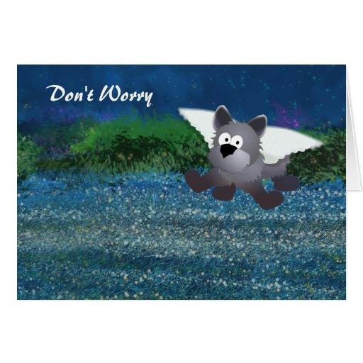 Ayuda universal del perro del ángel tarjeta de felicitación