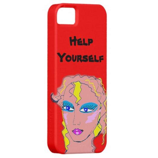 Ayuda usted mismo iPhone 5 fundas