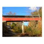Ayuda Vermont del puente cubierto de Chiselville Tarjetas Postales