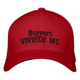 Ayuda VNV/LV casquillo rojo y negro de la bujía mé Gorra De Beisbol