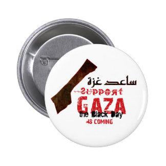 Ayuda y ayuda Gaza Pin Redondo 5 Cm