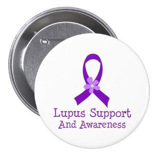 Ayuda y conciencia del lupus pin redondo de 3 pulgadas
