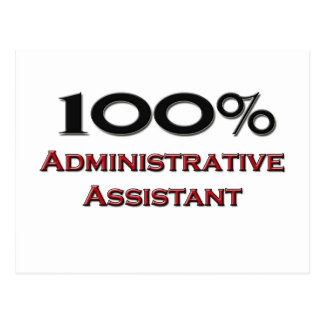 Ayudante administrativo del 100 por ciento tarjeta postal