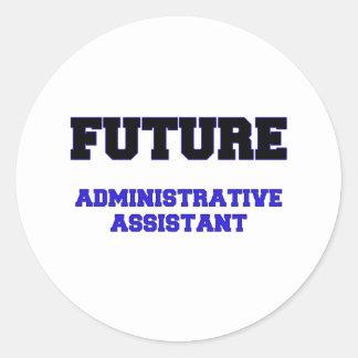 Ayudante administrativo futuro pegatinas