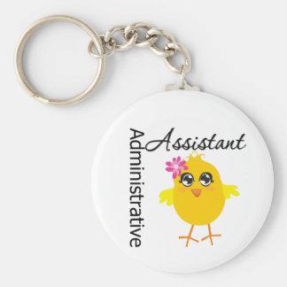 Ayudante administrativo lindo del polluelo de la c llaveros