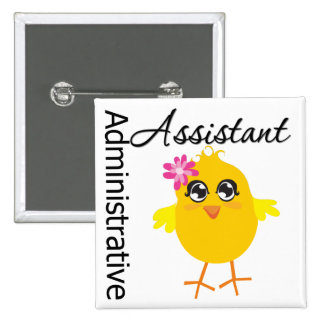 Ayudante administrativo lindo del polluelo de la c pin cuadrada 5 cm
