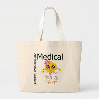 Ayudante administrativo médico bolsa tela grande