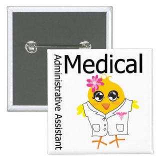 Ayudante administrativo médico pin cuadrado