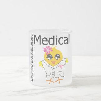 Ayudante administrativo médico taza de café esmerilada