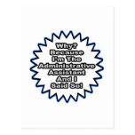 Ayudante administrativo… porque dije tan tarjetas postales
