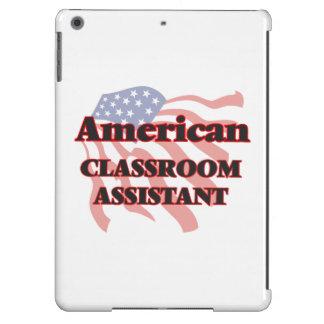 Ayudante americano de la sala de clase funda para iPad air