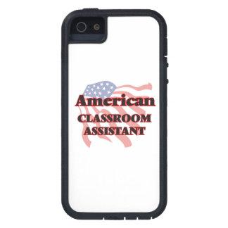 Ayudante americano de la sala de clase funda para iPhone 5 tough xtreme