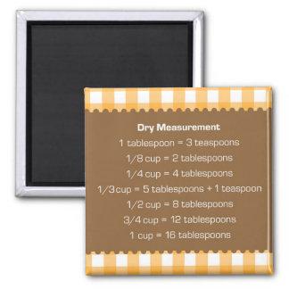 Ayudante anaranjado de la cocina de la carta de la iman de frigorífico