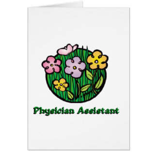 Ayudante Blooms1 del médico Tarjeta De Felicitación