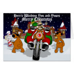 Ayudante Bubba Claus del motorista de Santa Tarjetón