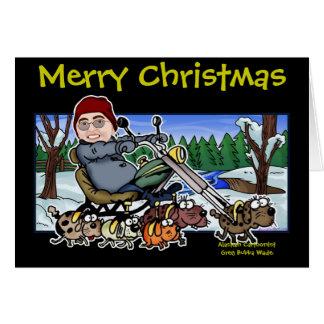 Ayudante Bubba Claus del motorista de Santa Tarjeta De Felicitación