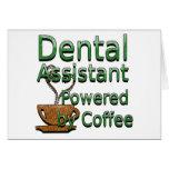 Ayudante de dentista accionado por el café tarjetas