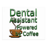 Ayudante de dentista accionado por el café tarjeta postal