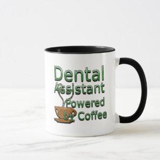 Ayudante de dentista accionado por el café taza