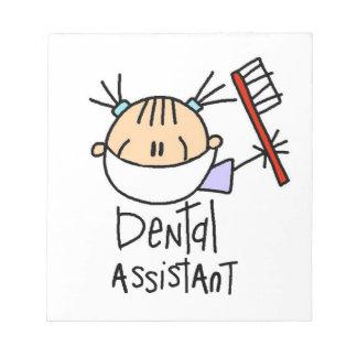 Ayudante de dentista blocs de papel