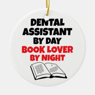 Ayudante de dentista del aficionado a los libros ornamento de navidad
