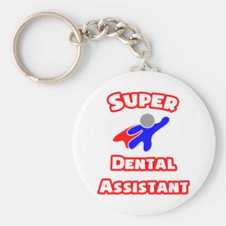Ayudante de dentista estupendo llavero redondo tipo pin