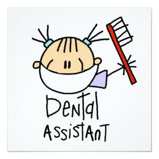 """Ayudante de dentista invitación 5.25"""" x 5.25"""""""