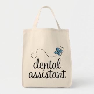 Ayudante de dentista lindo bolsa tela para la compra