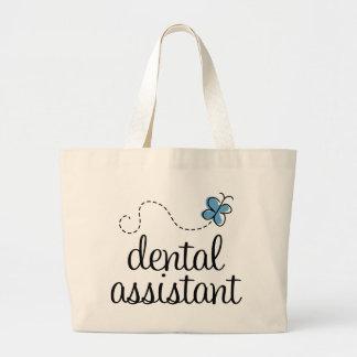 Ayudante de dentista lindo bolsa tela grande