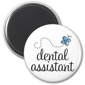 Ayudante de dentista lindo imán redondo 5 cm