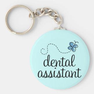 Ayudante de dentista lindo llavero redondo tipo pin