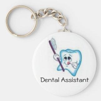 Ayudante de dentista llavero redondo tipo pin