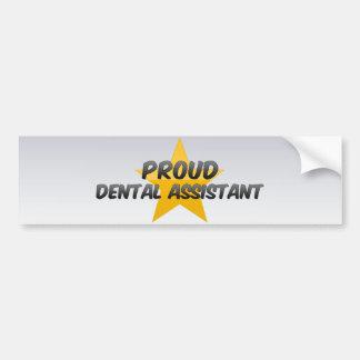 Ayudante de dentista orgulloso etiqueta de parachoque