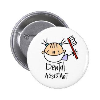Ayudante de dentista pin redondo 5 cm