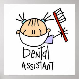 Ayudante de dentista póster