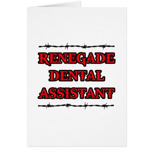 Ayudante de dentista renegado tarjeta de felicitación
