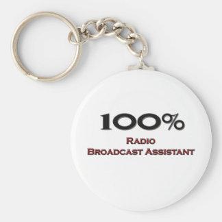 Ayudante de la emisión de radio del 100 por ciento llavero
