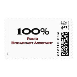 Ayudante de la emisión de radio del 100 por ciento franqueo