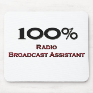 Ayudante de la emisión de radio del 100 por ciento alfombrillas de raton