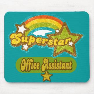 Ayudante de la oficina de la superestrella mouse pads